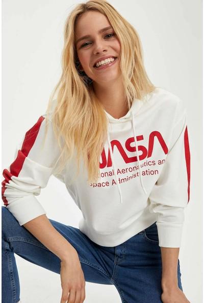 DeFacto Nasa Kapüşonlu Lisanslı Sweatshirt N1689AZ20SP