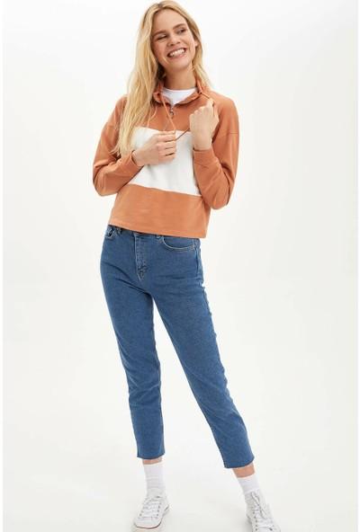 DeFacto Kadın Fermuarlı Örme Sweatshirt
