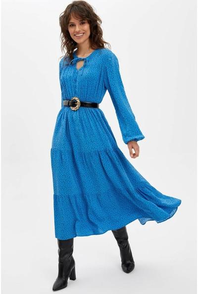 DeFacto Kadın Puantiye Desenli Elbise