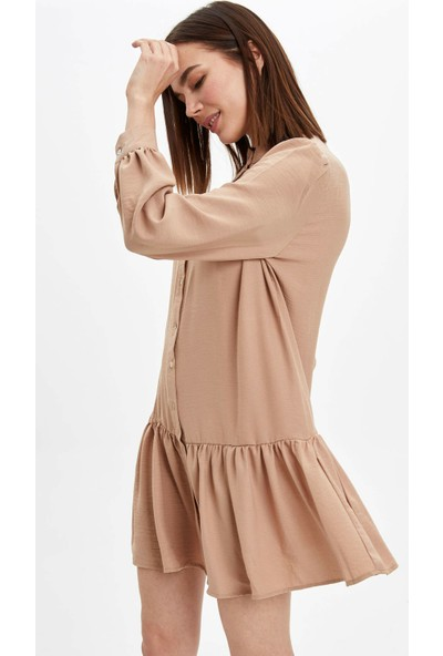 DeFacto Regular Fit Dokuma Elbise R1230AZ20SP