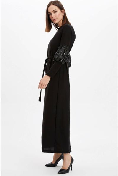 DeFacto Kadın Kol Detaylı Örme Elbise