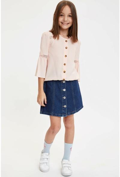 DeFacto Kız Çocuk Regular Fit Uzun Kollu Bluz N7550A620SP