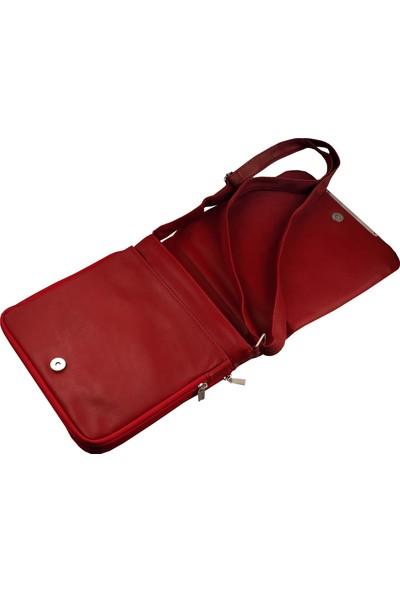 Mimodish Kadın Askılı Postacı Çantası Kırmızı Rengi