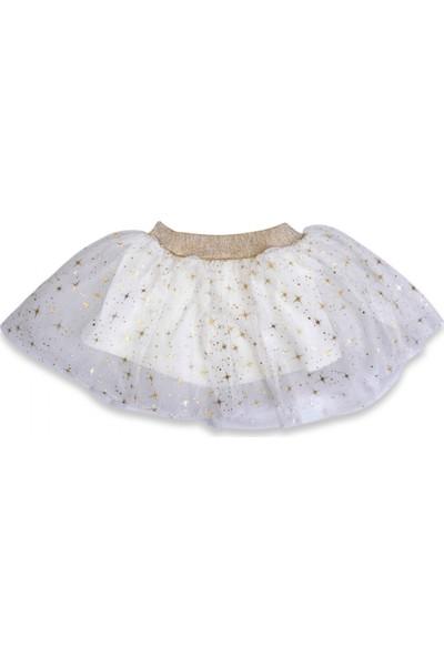 İsobel Kids Kız Bebek Tüllü Yıldız Simli Etek 9 - 12 Ay