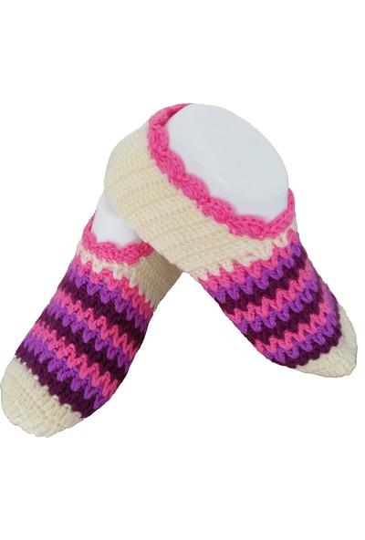 Nuh Home El Yapımı Kışlık Patik Krem Çorap