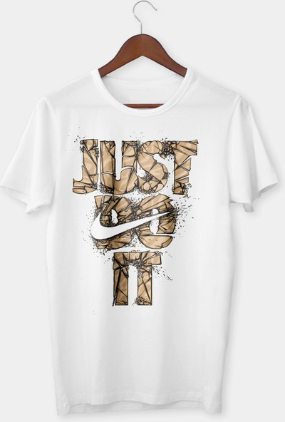 Vectorwear Just Do İt Bisiklet Yaka Unisex T-Shirt