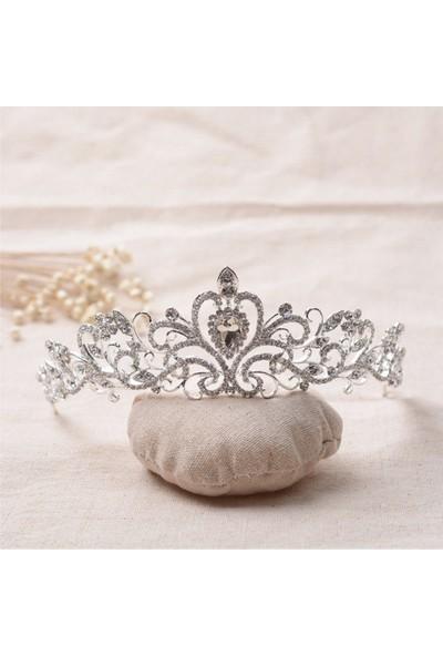 Atölye Pür Hayal Kalp Motifli Gümüş Renkli Saç Aksesuarı
