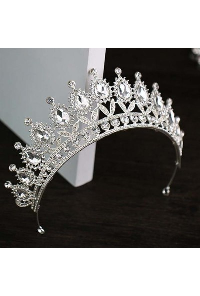 Atölye Pür Hayal Gümüş Renkli Prenses Tacı