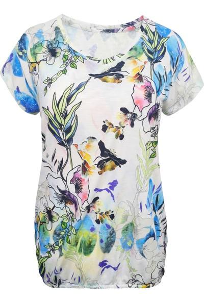 Perla Blanca Çiçek Desenli Bluz