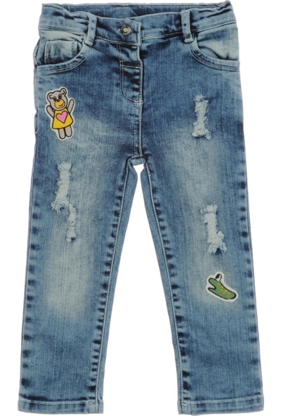 Panço Kız Çocuk Denim Pantolon 1812194100