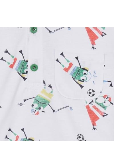 Panço Erkek Bebek Yakalı T-Shirt 2011BB05019