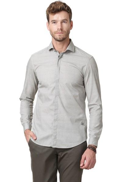 Ramsey Erkek Baskılı Dokuma Uzun Kollu Gömlek