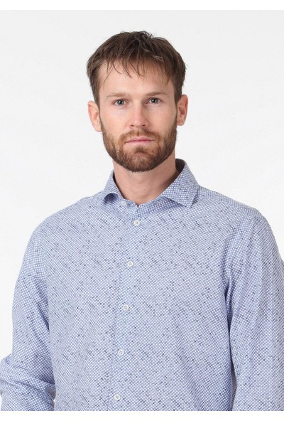 Ramsey Baskılı Dokuma Uzun Kollu Gömlek