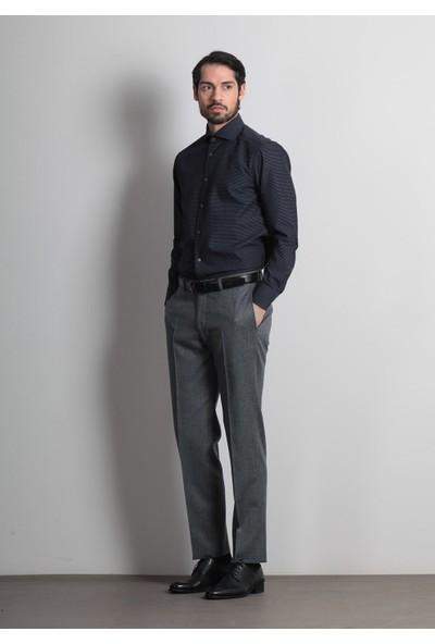 Ramsey Erkek Desenli Dokuma Uzun Kollu Gömlek