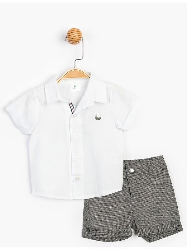 Panolino Çocuk Gömlek Şort Takım 15720