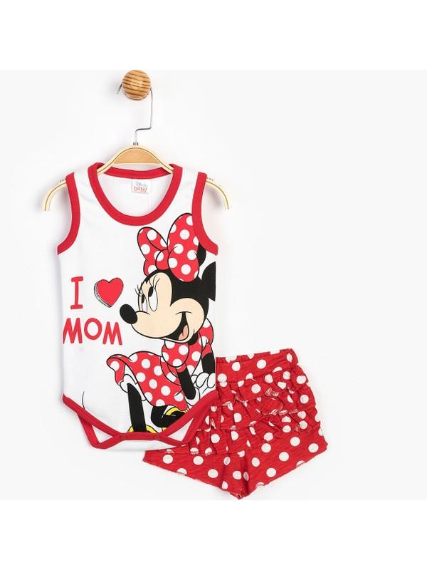 Disney Minnie Bebek Şortlu Takım 15631