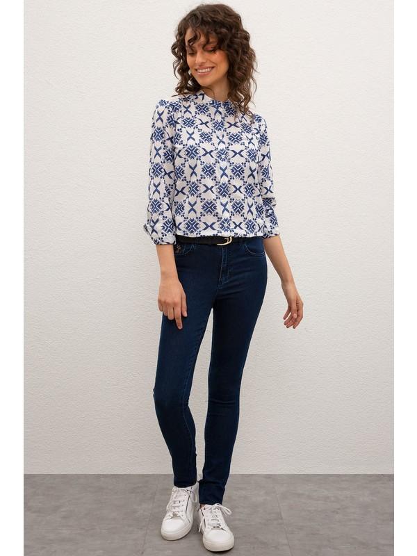 U.S. Polo Assn. Kadın Denim Pantolon 50219413-DN0021