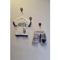 Minidoll Erkek Bebek 6 - 18 Ay Üçgen Cepli İkili Takım