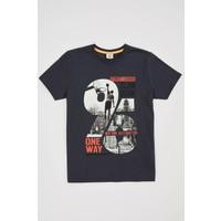 DeFacto Erkek Çocuk Hologram Baskılı Kısa Kollu T-Shirt