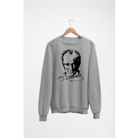 Angemiel Wear Atatürk Portresi Kadın Sweatshirt