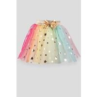Breeze Kız Çocuk Tütü Etek Yıldızlı Fiyonku Sarı (6-12 Yaş)