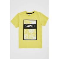 DeFacto Erkek Çocuk Slogan Baskılı Kısa Kollu Tişört N4110A620SM