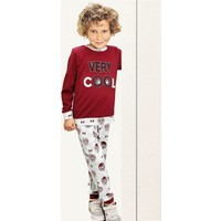 Pikidor Pamuklu Erkek Çocuk Honey Bear Pijama Takımı - Bordo