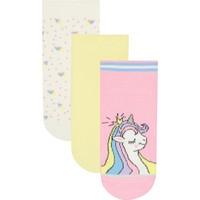 Penti Çok Renkli Kız Çocuk Unicorn 3lü Patik Çorap