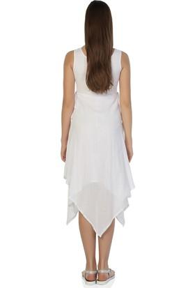 Eliş Şile Bezi Üçgen Katlı Elbise