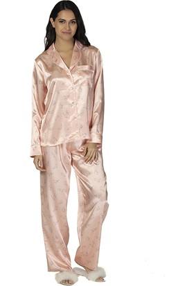 u&me Cat Pattern Saten Pijama Takımı