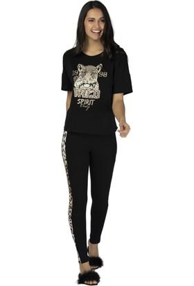 u&me Leopard Casual Pijama Takımı