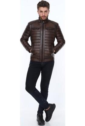 Derimont's Show Kahverengi Erkek Deri Ceket