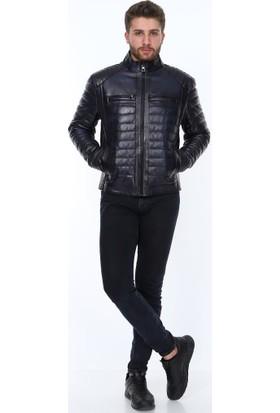 Derimont's Senon Siyah Deri Ceket