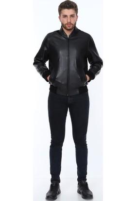 Derimont's Thomas Siyah Erkek Deri Ceket