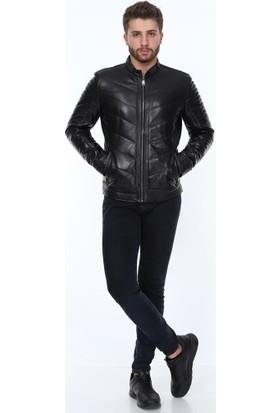 Derimont's Blason Siyah Erkek Deri Ceket