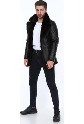 Derimont's Beckham Kürklü Siyah Erkek Deri Ceket