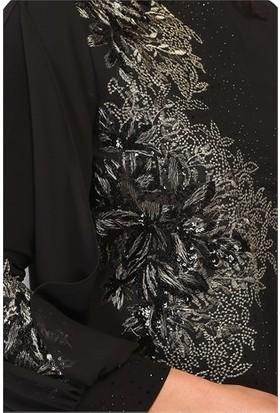 Arıkan Concept 2948 Büyük Beden Elbise Siyah