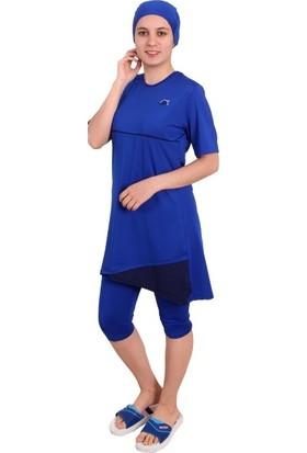 Sezer Mayo Kübra Yarım Kol Yüzme Kıyafeti