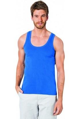 Özlem Donex 2105 Erkek Penye Askılı Atlet Mavi