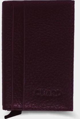 Guard Leather Guard Derideposu Deri Klasik Erkek Cüzdanı / 5225 Bordo