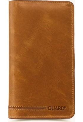 Guard Leather Deri Kartlık Hazneli Telefon ve Cüzdan -1420 Sarı