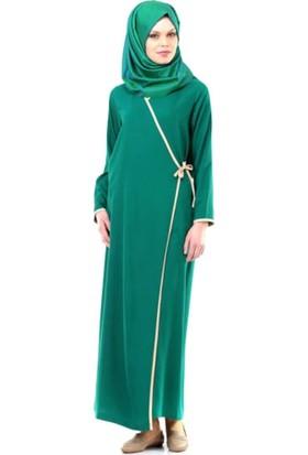 Umre Market Namaz Elbisesi - Yandan Bağlamalı - Yeşil