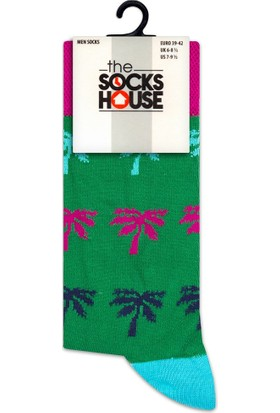 The Socks House Bambu Palmiye Desenli Çorap