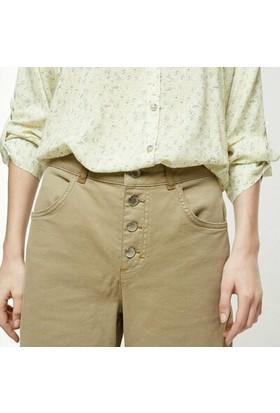 Yargıcı Düğme Detaylı Denim Pantolon