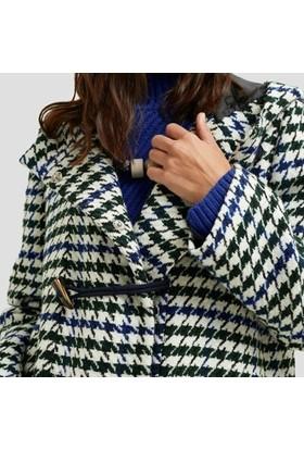 Yargıcı Düğme Detaylı Palto