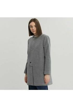 Yargıcı Bağlama Detaylı Uzun Palto