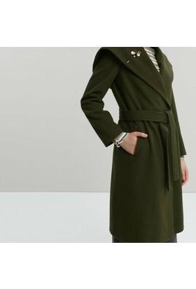 Yargıcı Kapüşonlu Uzun Palto
