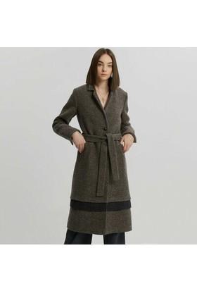 Yargıcı Katmanlı Uzun Palto