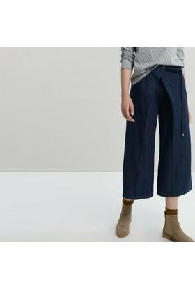 Yargıcı Geniş Paça Denim Pantolon