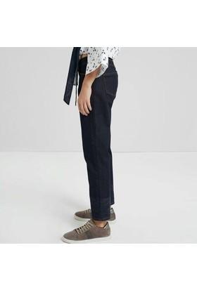 Yargıcı Paça Detaylı Denim Pantolon